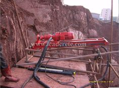 drilling rig for slope protections