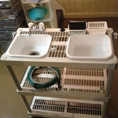 diy camping kitchen with faucet