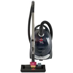 Looking for a pet hair canister vacuum. The Pet Hair Eraser Cyclonic Canister Vacuum has specialized pet hair features to help remove pet hair from all your flooring types. Canister Vacuum Reviews, Best Canister Vacuum, Vacuum Cleaners, Lightweight Vacuum, Bissell Vacuum, Floors And More, Pet Hair Removal, Best Vacuum