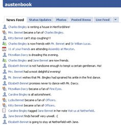 Pride and Prejudice on Facebook :) I wish there was more to this!