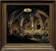 Het zuidwestelijk bolwerk van Kasteel Vredenburg te Utrecht (1826)   Barend Cornelis Koekkoek, Albertus Verhoesen. Olieverf op doek.
