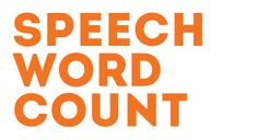 Speech Word Count - The tool which converts your text into reading time.
