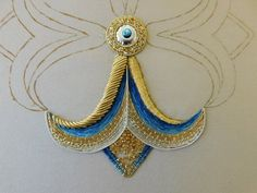 Embroidery Fashion, Silk Ribbon Embroidery, Hand Embroidery Designs, Embroidery Files, Embroidery Stitches, Embroidery Patterns, Hand Work Design, Crochet Wool, Gold Work