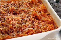 Low-fat, low-calorie, low-carb—this is the spaghetti squash casserole recipe you've been looking for! It's filling and easy to make.