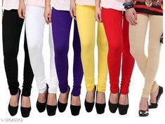 Leggings & Tights  COTTON HOSIERY BLACK+WHITE+PURPAL+YELLOW+RED+SKIN LEGGING Fabric: Cotton Pattern: Solid Multipack: 6 Sizes:  Free Size (Waist Size: 40 in, Length Size: 43 in, Hip Size: 44 in)  Country of Origin: India Sizes Available: Free Size   Catalog Rating: ★3.7 (8599)  Catalog Name: Elegant Fabulous Women Leggings CatalogID_2445068 C79-SC1035 Code: 855-12640362-5841