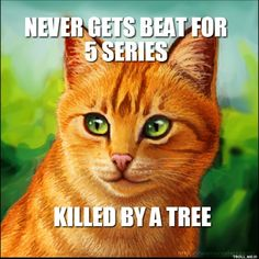 """Ha. That's not true though. """"SPOILER ALERT!"""" He died of his wounds after defeating Tigerstar. And I always thought there were four series??"""