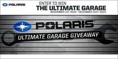 Swing by Woods Cycle Country and pick up your entry code for the Ultimate Garage Giveaway. http://www.polaris.com/en-us/promos/ultimate-garage-giveaway #WoodsCycleCountry #Polaris