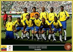 Ecuador team group for the 2002 World Cup Finals.