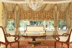 Custom Luxury Drapery for Large Bay Window