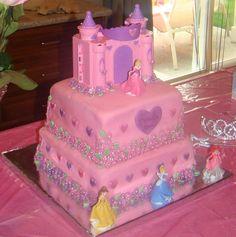 Another view of Disney Princess cake.