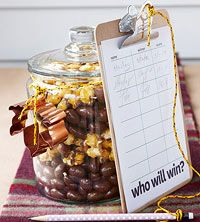 For some friendly competition, use our printable stat sheet to have guests predict the outcome of the game. More football party ideas: Tailgate Games, Football Tailgate, Football Birthday, Tailgating Recipes, Football Food, Football Season, Football Stuff, Throwing A Football, Jars Of Sweets