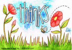 """Thanks"" postcard"