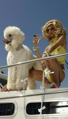 Darcy was so finished with men. She set sail with Gloria's poodle Pierre.
