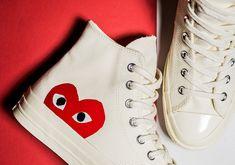 Acheter CDG Converse Play 1970 Classical Toile Combined Big Eyes High Circle Heart Men Men Men Skating Shoes Fashion Designer Shoes 36 44 De 36,45 €