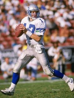 14 Oct 1990  Quarterback Dave Krieg of the Seattle Seahawks looks to pass  the ball f8ca52db4