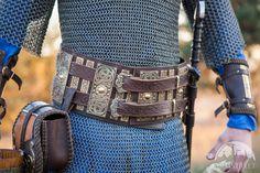 Ceinture de la guerre de Viking en cuir et laiton par ArmStreet armstreetfrance.com
