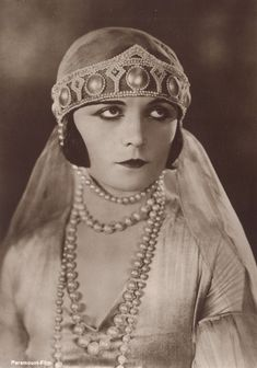 Vintage lady Miss Pola Negri by MementoMori-stock.I love everthing about this photo, from her expression to her garments and make-up
