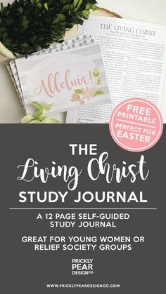 The Living Christ Study Journal LDS Relief Society Young Women Self-Guided Study Journal Prickly Pear Design Co.