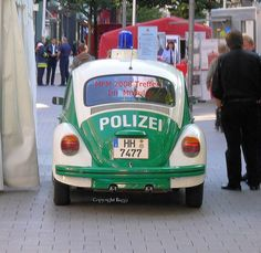 Old German police car (I remember getting a ticket because I didn't lock my car doors when I ran into the store for a moment.)