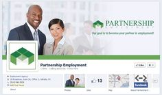 Facebook and Staffing Firms: Partnership Employment's new cover image is a great complement to their newly launched site!