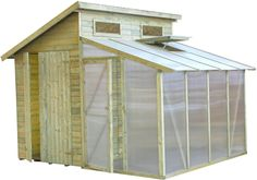 Maybe I can put old windows in the little shed and have it attach to the side of the big shed??