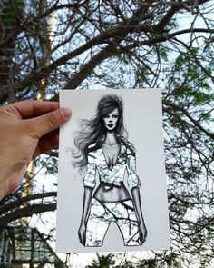Ade's pick: Illustrator Shamekh AlBluwi uses fashion cut-outs to turn landscapes into beautiful designs.