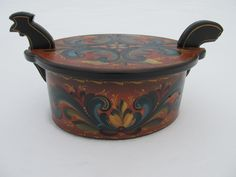 Rooster Tine with Romsdal Rosemaling
