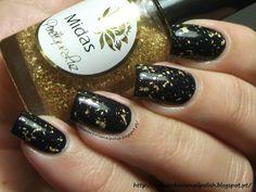 Midas black and gold nail polish.