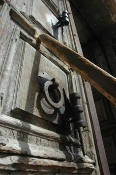 Door to the Holy Sepulchre www.ffhl.org #Franciscan #HolyLand