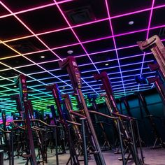 Rise Nation, a climbing-based fitness club, utilizes PixelControl lighting in their ceiling to create a one of a kind workout experience.