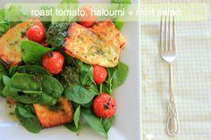 Roast tomato, haloum