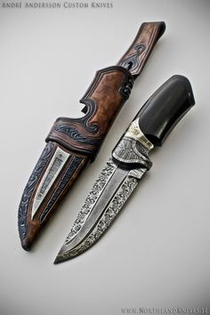 custom dagger | André Andersson Custom Damascus Knives - Knives, Daggers, Swords and ...