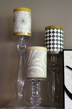 scrapbook paper candles