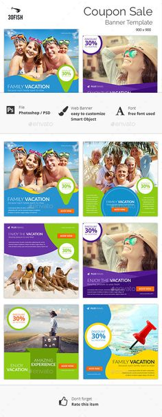 Various Travel Banner Template #design Download: http://graphicriver.net/item/various-travel-banner/12281138?ref=ksioks