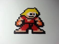 Ken Street Fighter perler beads by DCBPerlerSprites