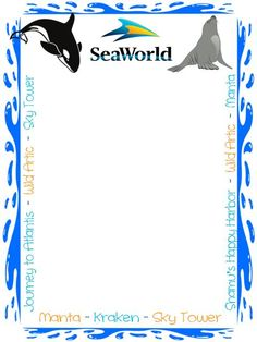 3x4 Seaworld card with rides listed photo 3x4ridejournalcardforSeaworld.jpg
