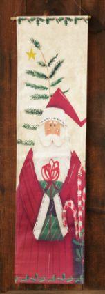 Painted Canvas Wall Hanging - Santa