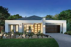 Home Builders Melbourne & Brisbane Flat Roof House, D House, Story House, Facade House, Facade Design, Exterior Design, Architecture Design, Contemporary House Plans, Modern House Plans