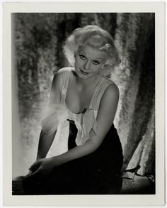 Vintage 1930s Jean Harlow George Hurrell Exquisite Art Deco Glamour Photograph