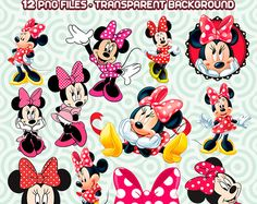 Minnie Mouse Clipart, Minnie PNG, Minnie Mouse Digital, Disney Clipart, Minnie Mouse, Instant Download 02