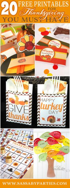 20 Free Thanksgiving Printables you must have