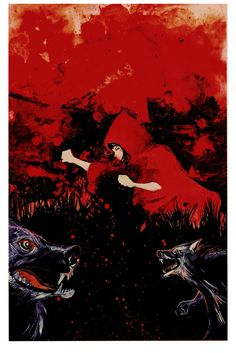 I am working on a project entitled Red based on the fairy-tale of little red riding hood more to come, prints available.