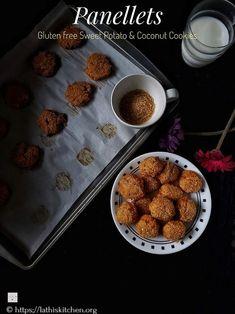 Panellet,Cookies,Sweet potato Coconut Cookies,Gluten free,Dessert,Kids,Easy,Christmas Easy Cookie Recipes, Sweet Recipes, Baking Recipes, Scone Recipes, Bar Recipes, Simple Recipes, Köstliche Desserts, Delicious Desserts, Dessert Recipes