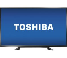 "Toshiba - 55"" Class (54.6"" Diag.) - LED - 1080p - HDTV - Black - Front Zoom"