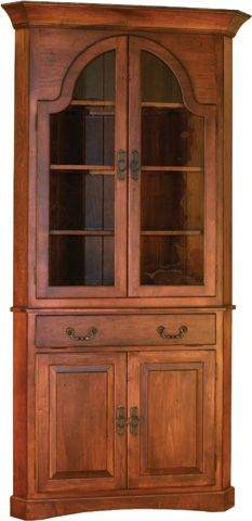 Amish Unfinished Solid Pine Corner Hutch China Cabinet Country Custom Unfinished Corner Cabinets For Dining Room Design Ideas