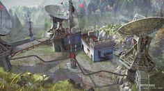 Watch Dogs concept art by mdonze Digital Art Fantasy, Fantasy Artwork, Terrain 40k, Art Cyberpunk, Sci Fi Background, Zombie Art, Game Concept Art, Environment Concept Art, Matte Painting