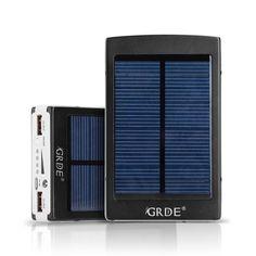 Universal 10000mAh Portable Dual USB External Solar Power Bank / Backup Battery Charger;External Battery Packs Solar Charger / Solar Panel Charger