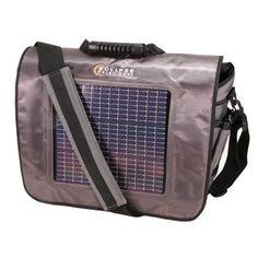 Eclipse Solar Gears' Fusion Solar Messenger Bag, Gray
