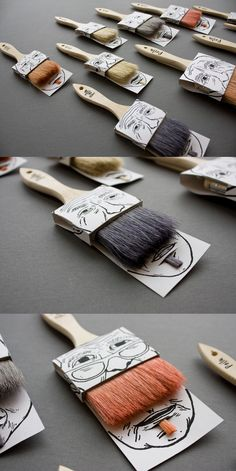 Paintbrushes Packaging by Simon Laliberté. 16 Creative Packaging Examples. #packaging