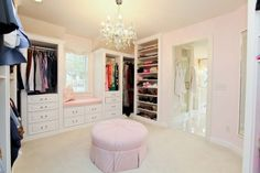 Yes, someday, I want a ridiculously lavish closet which boasts its own window seat. And takes up a whole room. Also, the awesome clothes and shoes (mostly shoes) to fill such a closet. C'mon, winning lotto ticket!